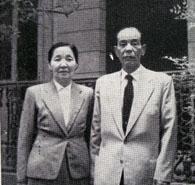 岡本寅蔵・久江夫妻(パ紙『先駆者伝』より)