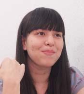 「日本とブラジルを繋ぐような仕事をしたい」と語る松崎ビアンカ亜由美さん