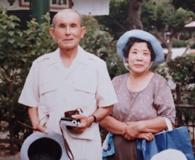 晩年の黒瀬泰・松枝夫婦(京田三恵所蔵)