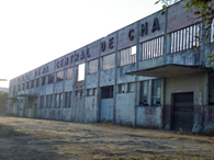 レジストロ市内に残っているコチア産業組合の製茶工場の跡地。94年に清算するまで操業されていた。現在では屋根は落ち、廃墟と化している