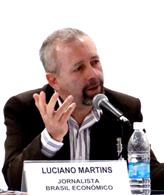ルシアノ・マルチンスさん(2009年10月26日、百周年評価シンポ「百周年とメディア」で)