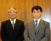 同社本部で、黒子さん(左)と松永さん