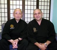長松館長とコレイア教区長
