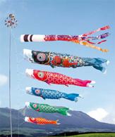 寄贈されたものと同種の鯉のぼり「錦龍」。巨大鯉のぼりがパラナの空を泳ぐことに