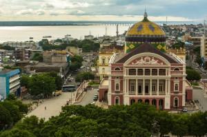 アマゾナス劇場。ピンク色の外観が目を引く(Embratur/ Portal da Copa)