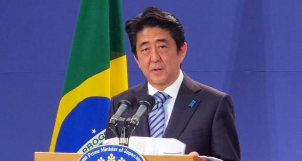 「地域で頑張っている中堅・中小企業の活躍の舞台を世界へ」と語る安倍首相