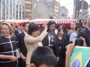 リベルダーデ広場で昭恵夫人