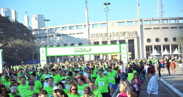 サンパウロ市でも、パカエンブー・スタジアムから一斉にスタートした(Ivan Lima /MidiaSport/MBraga Comunicação)
