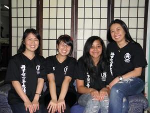 来社した小森田、斉藤、長野、三浦さん(左から)