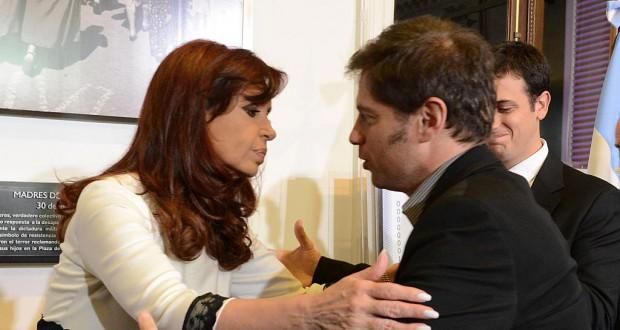 アルゼンチンのクリスチーナ大統領とキシロフ経済相(Presidência da Argentina)