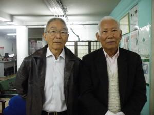 宮村会長と川崎運動部長
