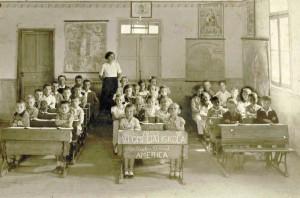 1935年、ポンペイアにあったハンガリー学校の様子(写真提供foto=Casa de Guilherme de Almeida)