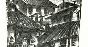 「人形の街」章の挿絵子(写真提供foto=Casa de Guilherme de Almeida)