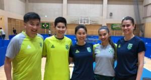 左からオヤマ・ウーゴ、カロル・クマハラ、ジェシカ・ヤマダ、ジュリア・タカハシ、ブルーナ・タカハシ(敬称略/写真提供:オヤマ・ウーゴ)