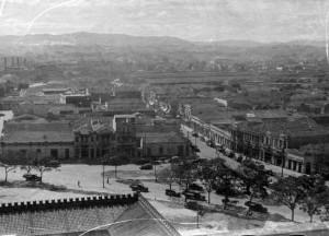 昔のサンタローザ街の様子(写真提供foto=Casa de Guilherme de Almeida)