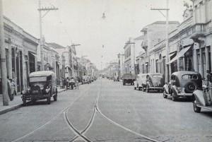 戦前のジョゼ・パウリーノ街の様子(写真提供foto=Casa de Guilherme de Almeida)