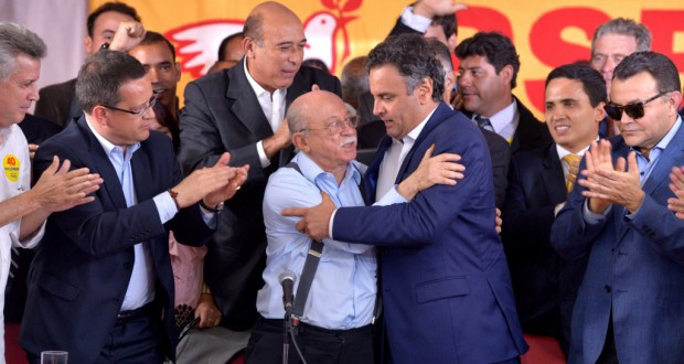 8日、PSBの政党支持を受けるアエシオ氏Valter Campanato/Agência Brasil
