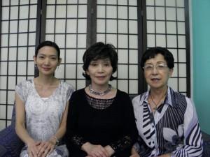 来社した河村教授、河村支部長、小川副支部長(左から)