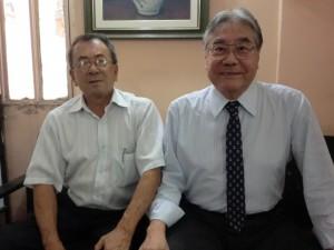 来社した日野事務局長と平崎会長