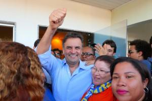 選挙期間中のアエシオ候補(Foto: Orlando Brito/PSDB)