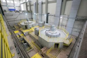 水力発電所の内部の様子(Foto: Diogo Moreira/A2 FOTOGRAFIA)