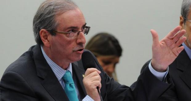 12日のCPIでのクーニャ議長(Antonio Cruz/Agência Brasil)