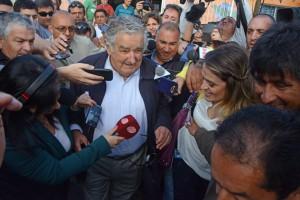 大統領選投票を終えたばかりのムヒカ大統領(2014年10月26日、Foto: Presidencia do Uruguai)