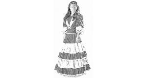 伝統的な衣装を着たガウーシャ