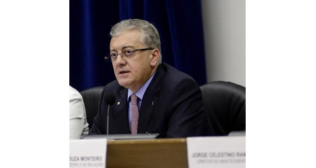 22日のペトロブラスのベンディーネ総裁(Agência Petrobras)