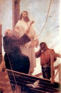 公開処刑される場面を描いたアウレリオ・デ・フィグエイレドの絵画(Aurélio de Figueiredo [Public domain], via Wikimedia Commons)