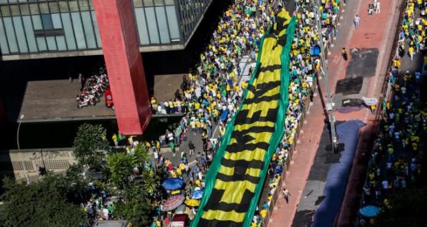 12日の聖市での反ジウマ・デモの様子(Paulo Pinto/Fotos Públicas)