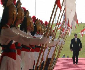 ブラジルを訪問した時のオラシオ・カルテス大統領(2013年9月、Foto: Jose Cruz/Agencia Brasil)