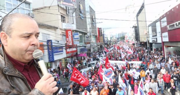 聖州サンベルナルド・ド・カンポでのCUTの抗議行動(Roberto Parizotti/Fotos Publicas)