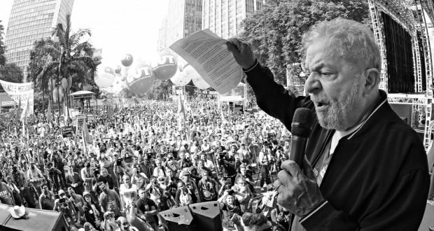 中央労組のメーデーの集会でのルーラ前大統領(Ricardo Stuckert/Instituto Lula)