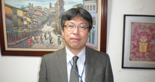離任報告に訪れた佐野首席領事