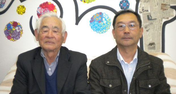 田畑実行委(左)と田中会長