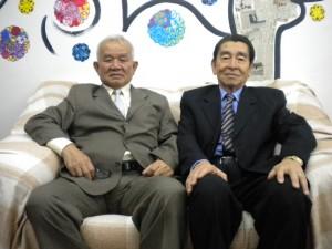 山田会長(左)と吉田副会長