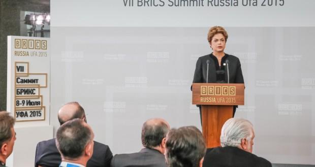 BRICS首脳会議でのジウマ大統領(Roberto Stuckert Filho/PR)