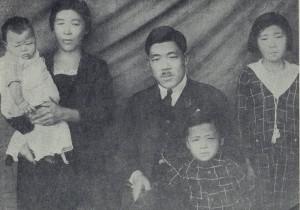 1927年の上野一家(『上野米蔵伝』より)
