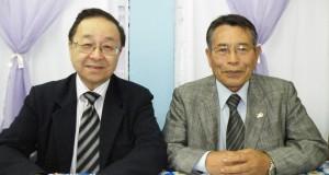 宮村副会長(左)と中沢会長