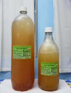 県人会が販売しているりんごジュース(2リットル、1リットル)