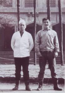 日本に残ったもう一人の息子・作治郎さん(左)。「ブラジル在住の親族に面影が似ているかも」と市川さん