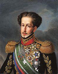 ドン・ペドロ1世(Simpl兤io Rodrigues de S・- Museu Imperial de Petrolis、ウィキペディアより)