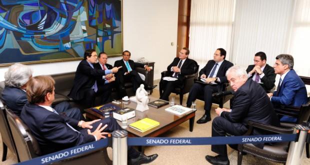 バルボーザ企画相が参加した9日の上院での会議風景(Jonas Pereira/Agência Senado)