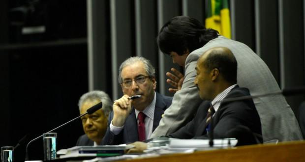 15日のクーニャ下院議長(Wilson Dias/Agência Brasil)
