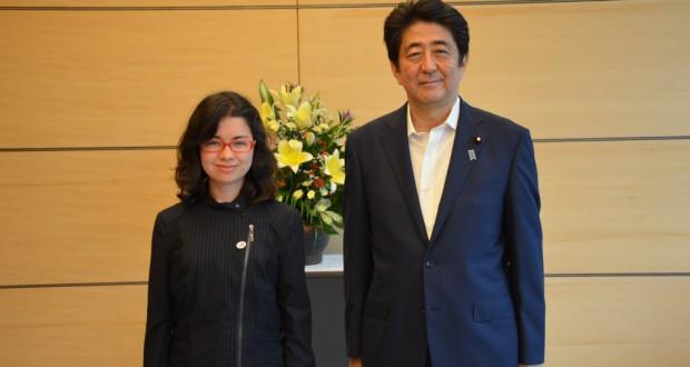 安倍総理との会合にて(提供写真)