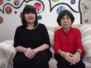 ガレリア・デコ代表の田口秀子さんと越石さん