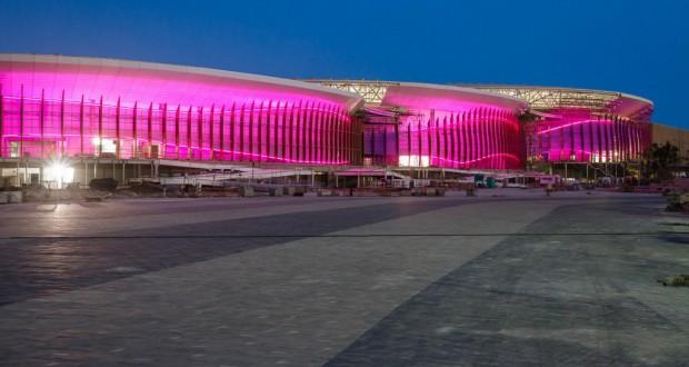ピンク色に光るオリンピック・パーク(Dhani Borges/PCRJ)