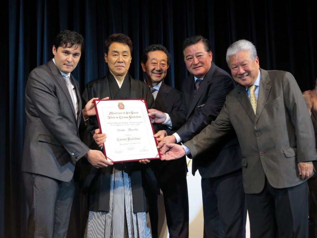 名誉市民章授与式には4人の日系市議が出席