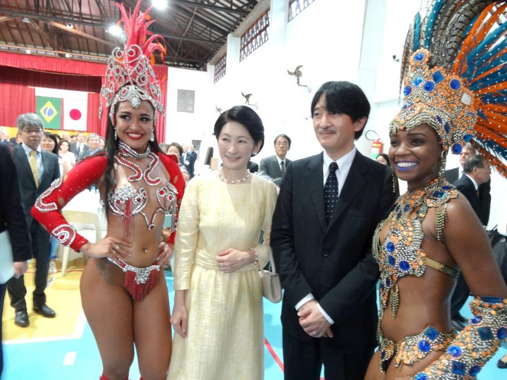 リオ日系協会での歓迎会ではサンバもご堪能